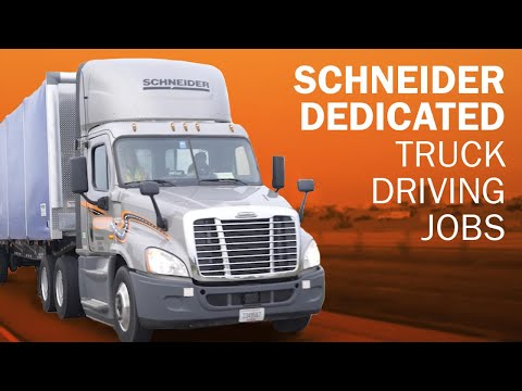 Schneider Dedicated truck driving jobs