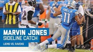 Marvin Jones Makes Juggling Toe-Tap Sideline Catch | Lions vs. Ravens | NFL