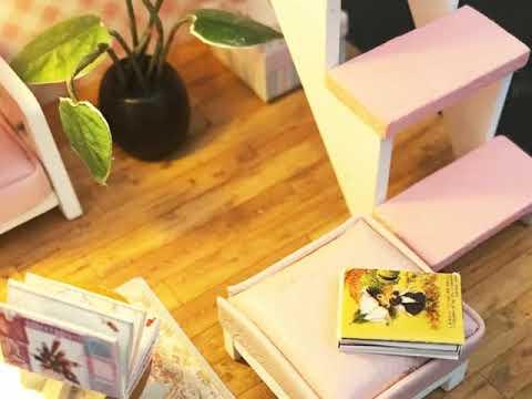 DIY Wooden Furniture DIY Miniature Casa Doll house