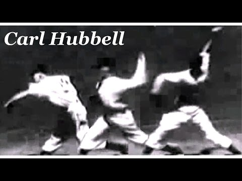 """Carl Hubbell """"bend and bow curvilinearly & scratch horizontally"""" Pitching Mechanics Slow Motion"""