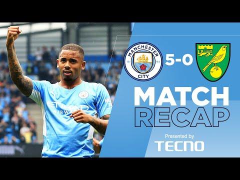 Gabriel Jesús at his best |  Match summary |  Man City 5-0 Norwich