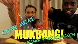 MUKBANG KING CRAB LEGS WINGSTOP CHICKEN + BREASTFEEDING!!!!!!