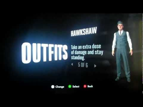 LA Noire All Outfits Including Rockstar Social Club ( Excluding DLC)