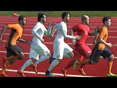 PES 2016 Speed Test | Fastest Players in PES