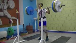 Маклаков Тимур, 14 лет, собст вес 54 Пр  108 кг