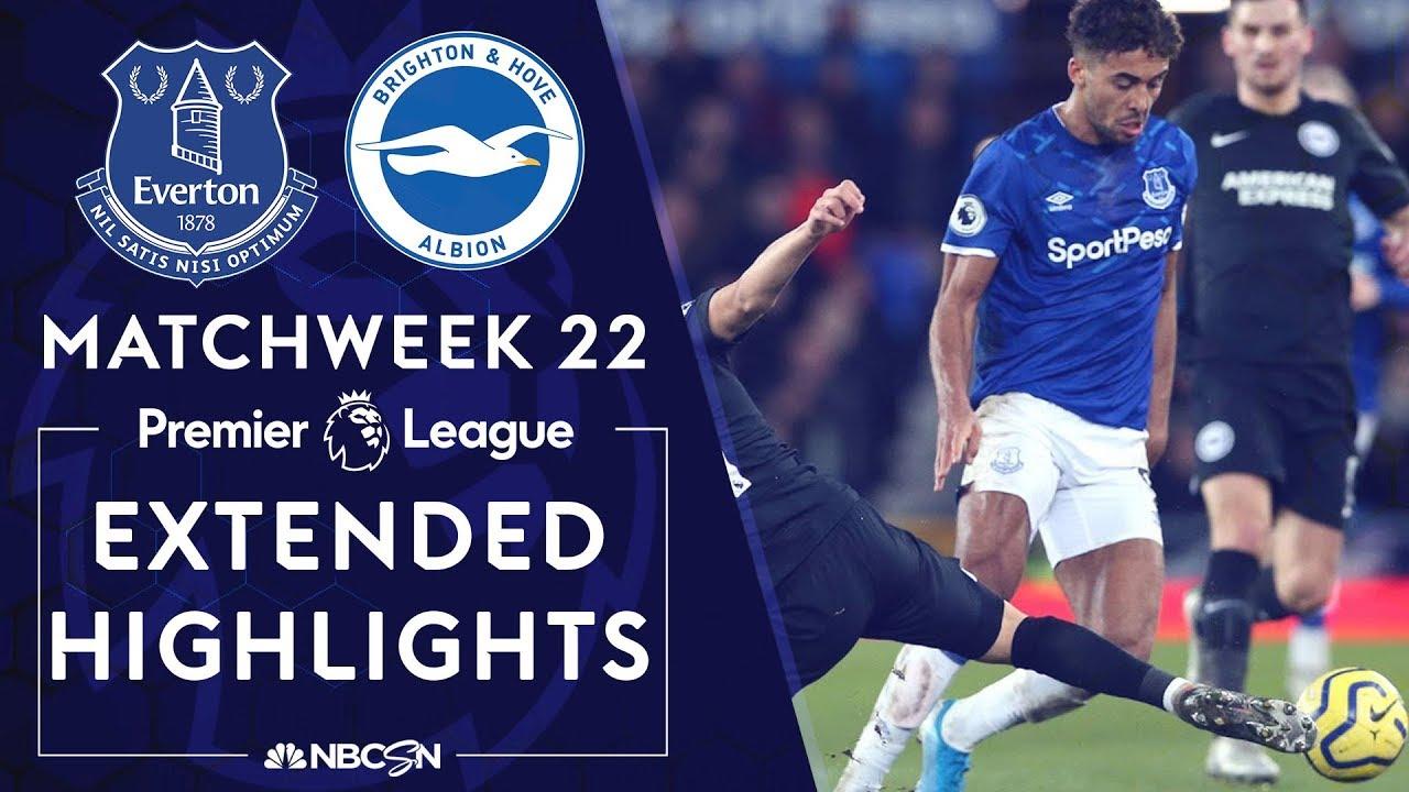 Everton v. Brighton | PREMIER LEAGUE HIGHLIGHTS | 1/11/2020 | NBC Sports