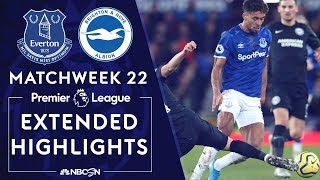 Everton v. Brighton | PREMIER LEAGUE HIGHLIGHTS | 1/11/2020 | NBC Sports