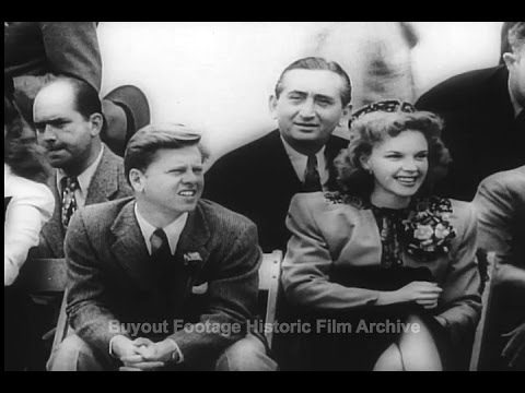 Historic Archival Stock Footage WWII - Movie Stars Aid America's War Bond Drive