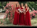 Burgundy Bridesmaid Dresses Goals