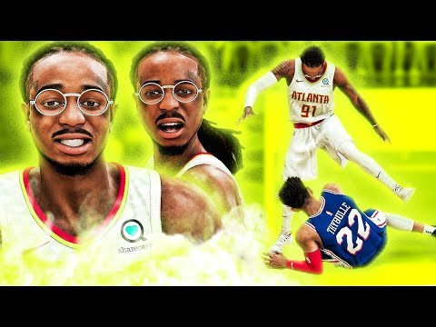 Quavo First Game In Atlanta! STEPS OVER DEFENDER AFTER CONTACT DUNK! NBA 2K20 Migos Career #1
