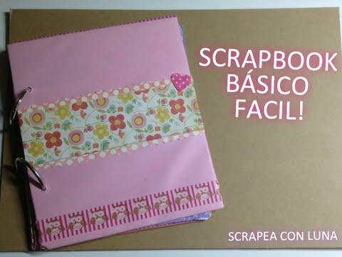 C mo hacer un scrapbook b sico con anillas argollas - Como hacer un album scrapbook ...
