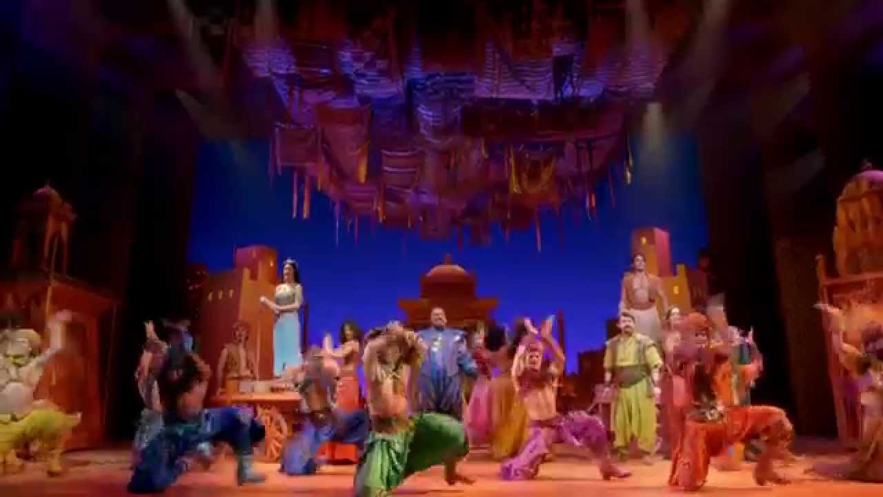 Aladdin At The New Amsterdam Theatre Youtube