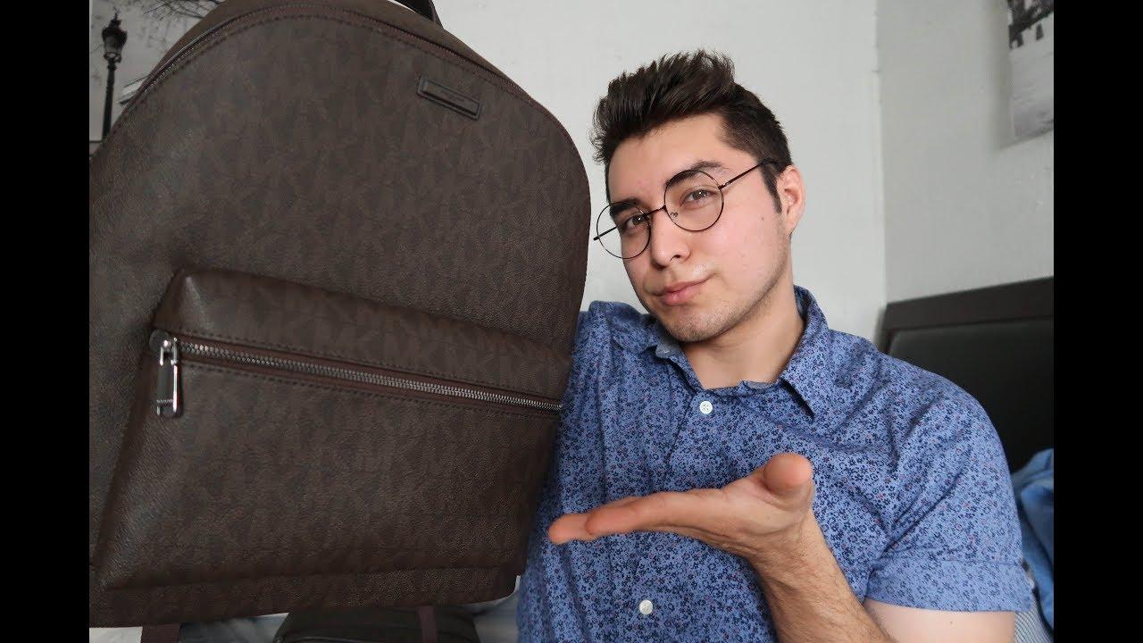 4e5615e74ada My Michael Kors Men Jet Set Logo Backpack - YouTube