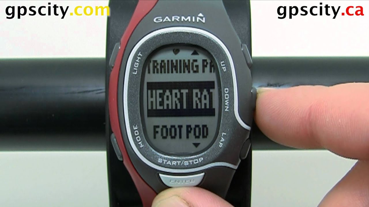 Pairing an ANT+ Footpod with the Garmin Forerunner 60