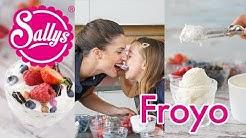 Frozen Yogurt / FroYo DIY / leichtes Joghurteis aus 4 Zutaten / wenig Zucker / Sallys Welt