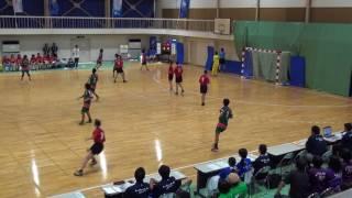5日 ハンドボール女子 福島商業高校 小松市立×清峰 1回戦 2