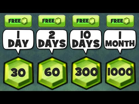 COC - HOW TO GET FREE 30 GEMS DAILY! | 1000 GEMS IN 1 MONTH!! | HIDDEN SECRET TRICK REVEALED!!!