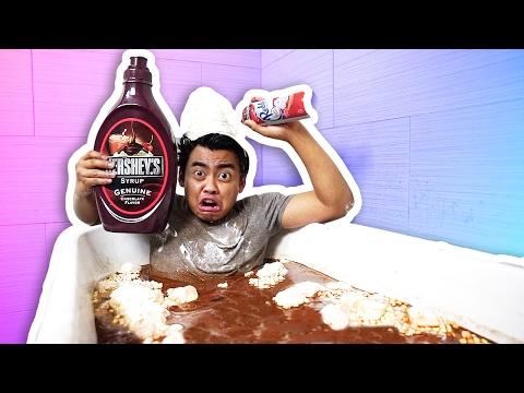 HOT CHOCOLATE BATH CHALLENGE!