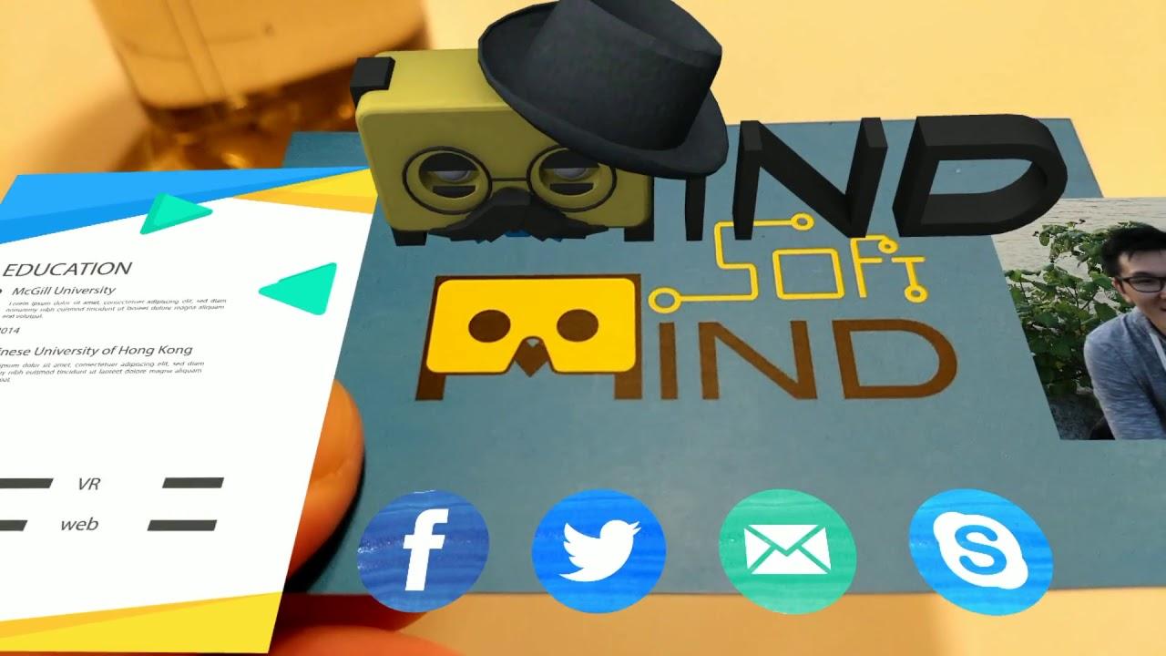 ar business card demo  youtube