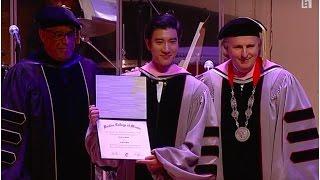 Video Wang Leehom Receives Berklee Honorary Doctorate download MP3, 3GP, MP4, WEBM, AVI, FLV September 2018