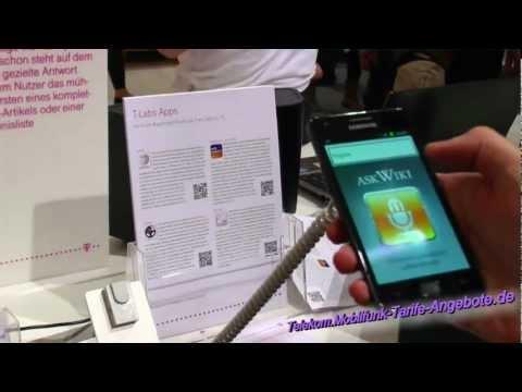 AskWiki App Vorstellung (Telekom Stand IFA 2012 Berlin) - Android App Ask Wiki / Wikipedia (HD / 2D)