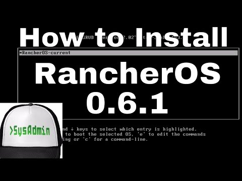 How to Intall RancherOS 0.6 to Hard Disk + Review on VMware Workstation Easy Tutorial [HD]