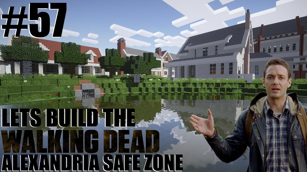 Minecraft lets build the walking dead alexandria safe zone minecraft lets build the walking dead alexandria safe zone lake 57 youtube sciox Gallery