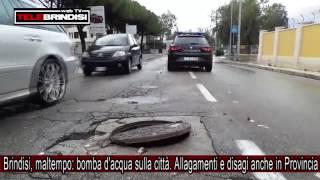 Brindisi, maltempo: bomba d'acqua sulla città. Allagamenti e disagi anche in Provincia