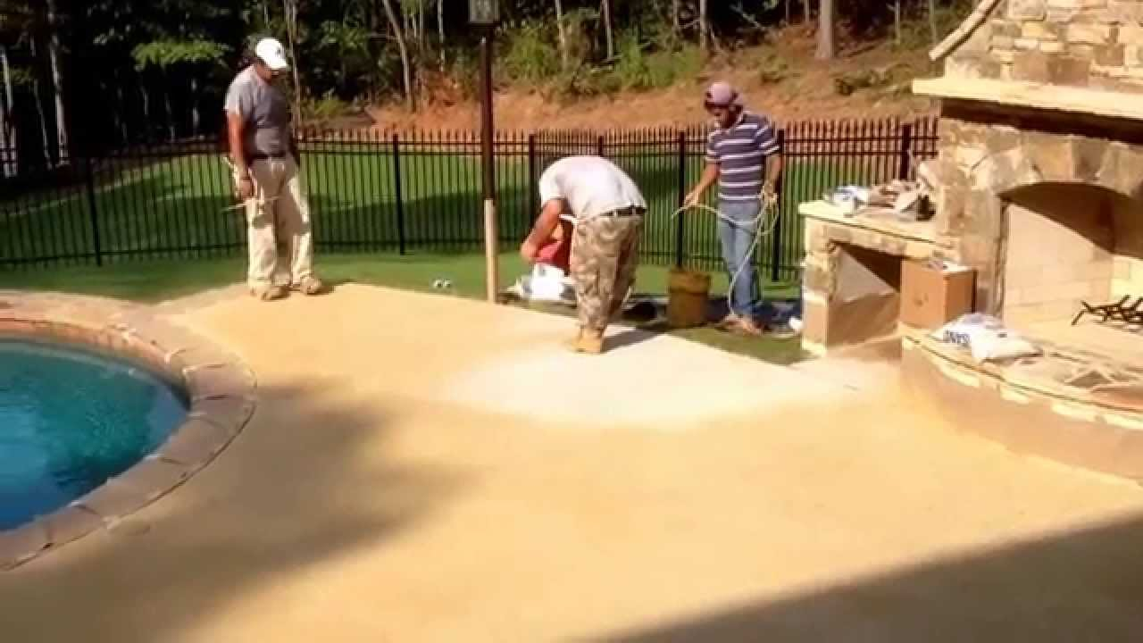 Swimming Pool Spray Deck Installation 770 771 1839