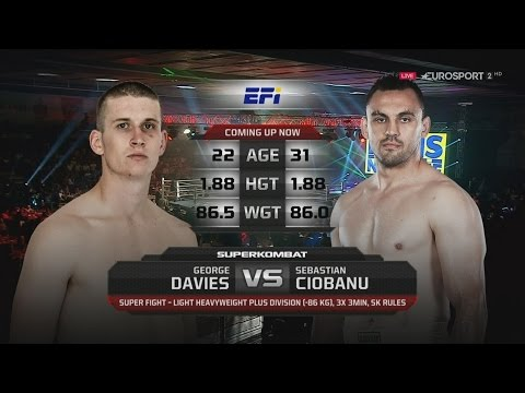 George Davies vs Sebastian Ciobanu  -86 kg Superkombat 01 Oct 2016