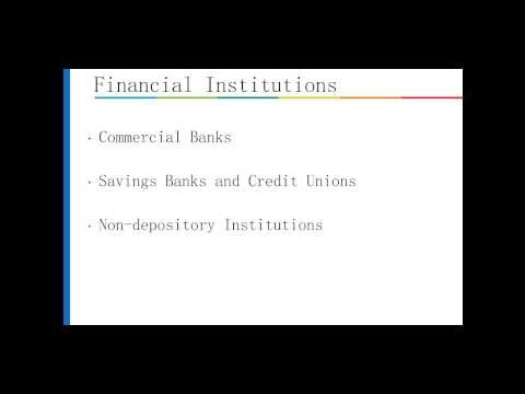 The Financial System - Overview