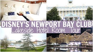 NEWPORT BAY CLUB HOTEL ROOM TOUR | LAKESIDE VIEW + FIREWORKS VIEW FROM ROOM - DISNEYLAND PARIS