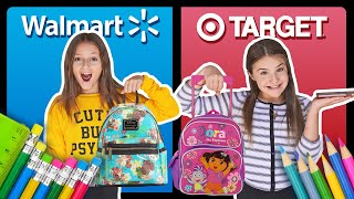 BACK TO SCHOOL SHOPPING HAUL **Target vs Walmart CHALLENGE** ✏️????| Sophie Fergi Piper Rockelle