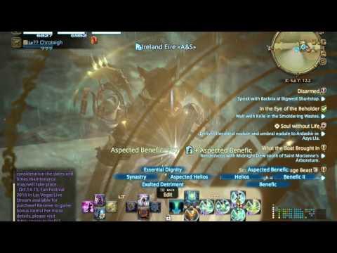 Final Fantasy XIV FFXIV AST Astrologian Ireland Eire Muspell Star Globe 14.10.16
