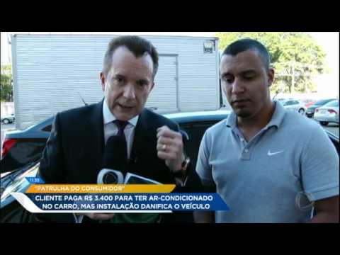 Cliente paga mais de R$ 3 mil por ar-condicionado no carro mas instalação danifica o veículo