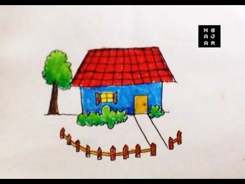 42 Koleksi Gambar Rumah Yang Mudah Ditiru HD Terbaru