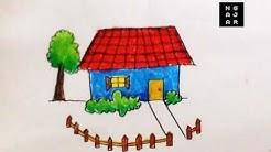 Menggambar Mewarnai Gambar Rumah Untuk Anak Tk Crayon Sangat Mudah