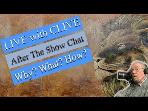 Majestic Lion Acrylic painting After the show Q&A Chat