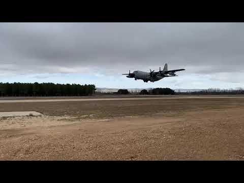 Aviones Hércules sobrevuelan ya Garray