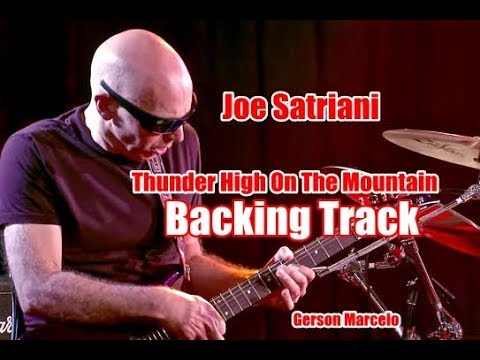 Joe Satriani Thunder High On The Mountain ( BACKING TRACK ) Playback Dm