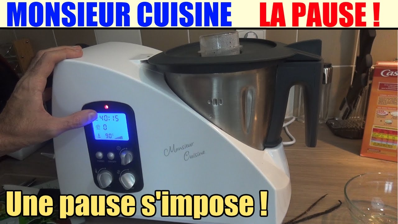 faire pause avec le monsieur cuisine lidl silvercrest skmh 1100 a1 robot multifonctions youtube. Black Bedroom Furniture Sets. Home Design Ideas