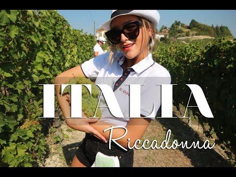 Recorriendo las viñas de  RICCADONNA en Italia