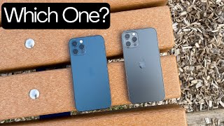 Apple iPhone 12 Pro Color Comparison Graphite (Black) and Pacific Blue | Shots of Both Colors |