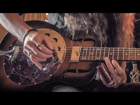 """SON OF A WITCH""   DARK SWAMP BLUES on the Dobro Duolian Resonator Guitar"