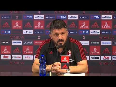 Gattuso conferenza pre Milan - Fiorentina 19.05.2018