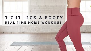 BOOTY & LEG DAY REAL TIME WORKOUT | STAY HOME SWEAT 7 DAY CHALLENGE & GIVEAWAY