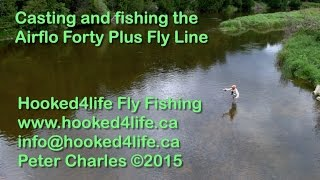 fishing and casting the airflo 40 fly line