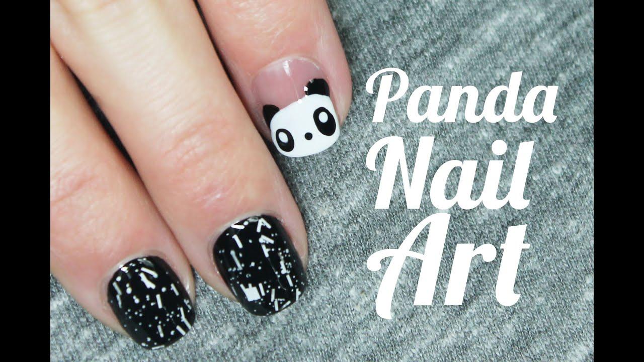 Uñas Decoradas Con Animales Paso A Paso Oso Panda Nail Art