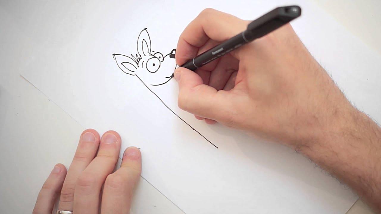 Come disegnare un canguro stile cartone animato youtube
