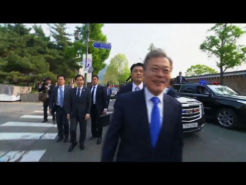 S. Korean President Departs for Talks with Kim